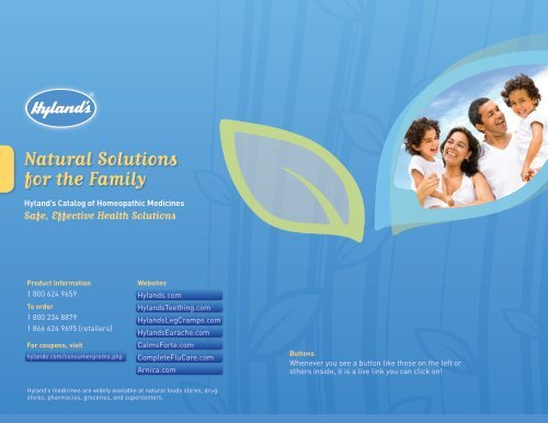 Natural Solutions for the Family - Hyland's Homeopathy