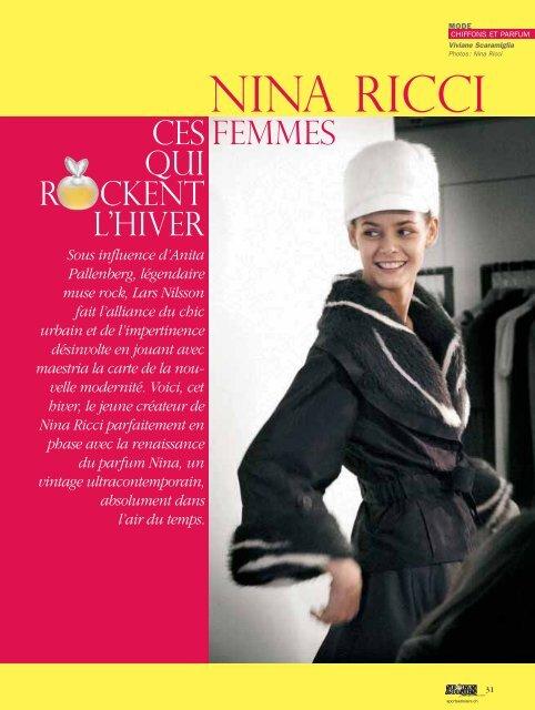 NINA RICCI - Magazine Sports et Loisirs