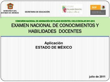 Examen Nacional de Conocimientos y Habilidades Docentes en…