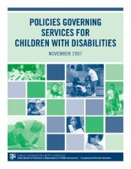2007 Policies Governing Services for Children with Disabilities