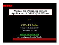 Manual for Designing Surface Application of OSSF W/W Effluent