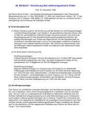 26. BImSchV - Verordnung über elektromagnetische Felder