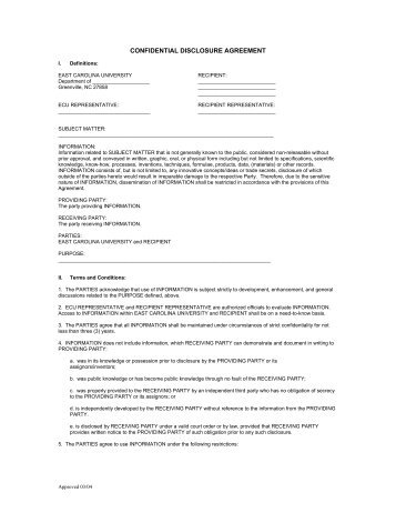 Port Authority Non Disclosure And Confidentiality Agreement Nda