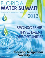FIS Sponsorship Opportunities 4-24 - Florida Irrigation Society