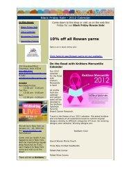 Black Friday Sale – 2012 Calendar - Knitters Mercantile