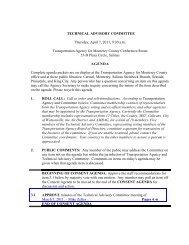 agenda - Transportation Agency for Monterey County