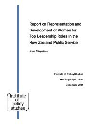 Report on Representation and Development of Women for Top ...