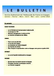 Bulletin Janvier-Juillet 2010 Espagne - Ambassade de France
