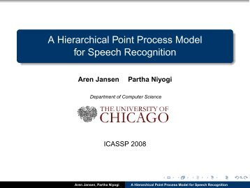 A Hierarchical Point Process Model for Speech Recognition