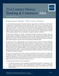 Enforcement Update: FDIC Loses a Round - Fried Frank