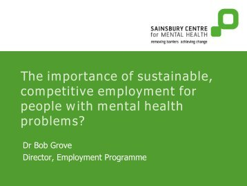 The importance of sustainable, competitive employment for people ...