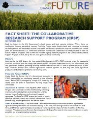 fact sheet: the collaborative research support ... - Feed the Future