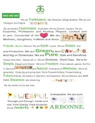 Region Manual - Beaty Nation | Arbonne | Pure and Safe Health