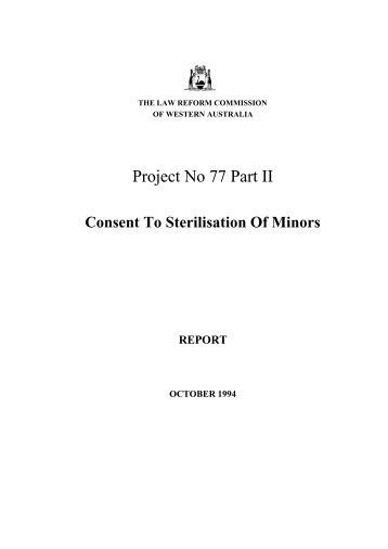 Final Report (October 1994) - Law Reform Commission of Western ...