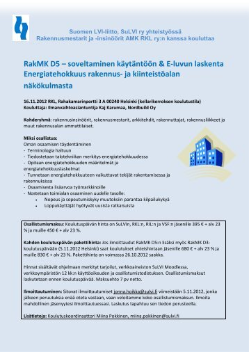 Helsinki - Suomen LVI-liitto | SuLVI ry