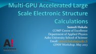 Multi-GPU Accelerated Large Scale Electronic Structure Calculations