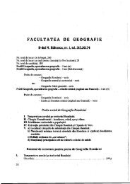 I FACULTATEA' os GEOGRAFIE - CIOCP