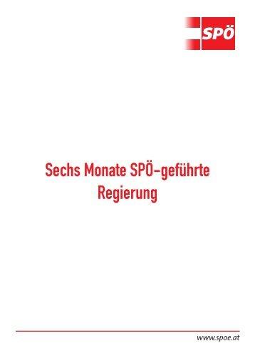 Sechs Monate SPÖ-geführte Regierung - Das Rote Wien