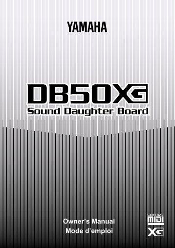 Yamaha DB50XG Owner's Manual - rncbc.org