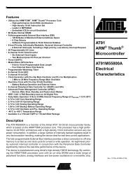 AT91M55800A Electrical Characteristics - Atmel Corporation