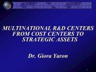 Israeli Multinational R&D Centers - WorkShop