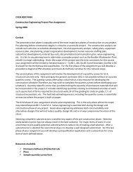 CVEN 4087/4434 Construction Engineering Project Plan ...