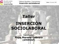 Inserción sociolaboral - Página 1 de cada 4