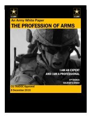 Profession of Arms White Paper 8 Dec 10