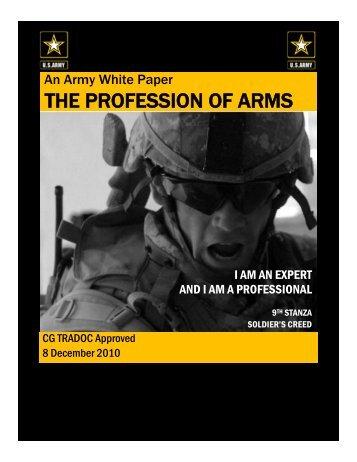Profession of Arms White Paper 8 Dec 10