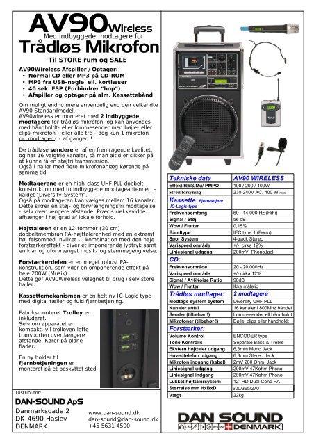 brochure - DAN-SOUND Entrance page