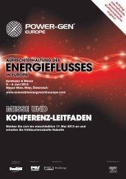 KonferenZ-leitfAden - Power-Gen Europe