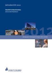 Jahresbericht 2012 - Fakultät für Maschinenbau - Universität ...