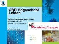 CBD Hogeschool Leiden Opleidingsmogelijkheden binnen het ...