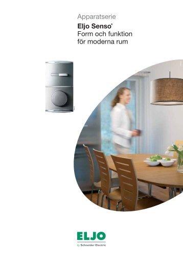 Apparatserie Eljo Senso® Form och funktion för moderna rum - Elot