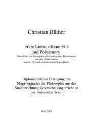 Freie Liebe, offene Ehe, Polyamory. Geschichte - Christian Rüther