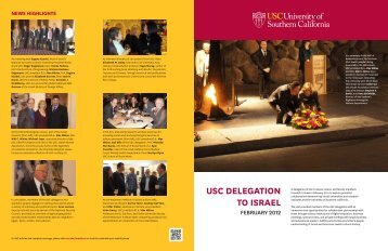 an insert that chronicles the USC delegation's trip to ... - CL Max Nikias
