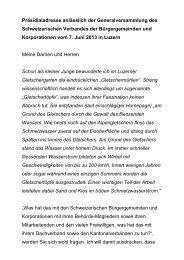 Grussadresse des Präsidenten - Schweizerischer Verband der ...