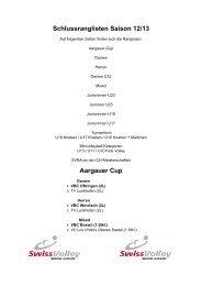 Schlussranglisten Saison 2012/2013
