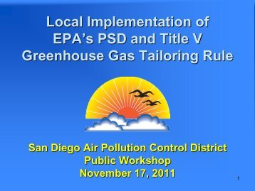 Title V - Air Pollution Control District