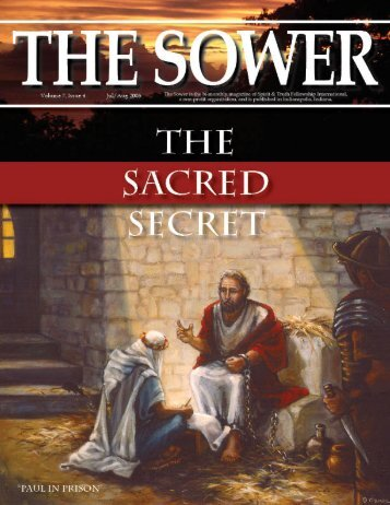 """MYSTERY"" OR ""SACRED SECRET"" - Spirit & Truth Fellowship ..."