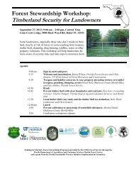 Forest Stewardship Workshop - School of Forest Resources ...