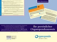Organspendeausweis - BKK-Landesverband NORDWEST