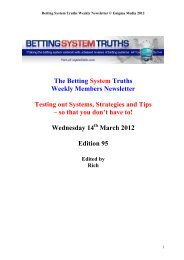 Contents - Betting System Truths