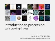 intro to processing basic drawing & trees - InnoVis