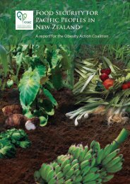 Food Security for Pacific Peoples in New Zealand - Agencies for ...
