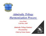 Admiralty Trilogy Harmonization Process - Clash of Arms