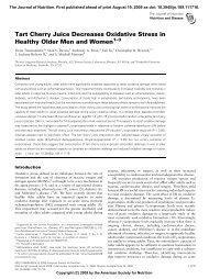 Tart Cherry Juice Decreases Oxidative Stress in Healthy Older Men ...
