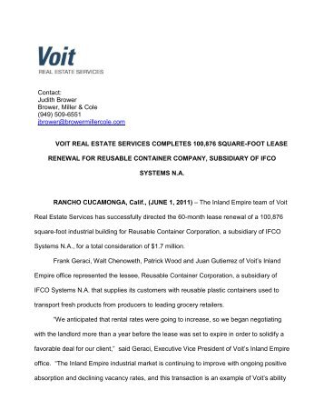 Download PDF - Voit Real Estate Services