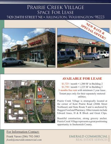 Prairie Creek Village - Emerald Commercial