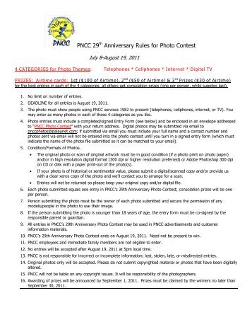 PNCC 29th Anniversary Rules for Photo Contest - Palau National ...